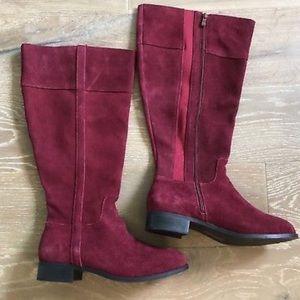 d2185a134da torrid Shoes - Torrid 9 Wide Shoe   Calve Suede Oxblood Knee Boot